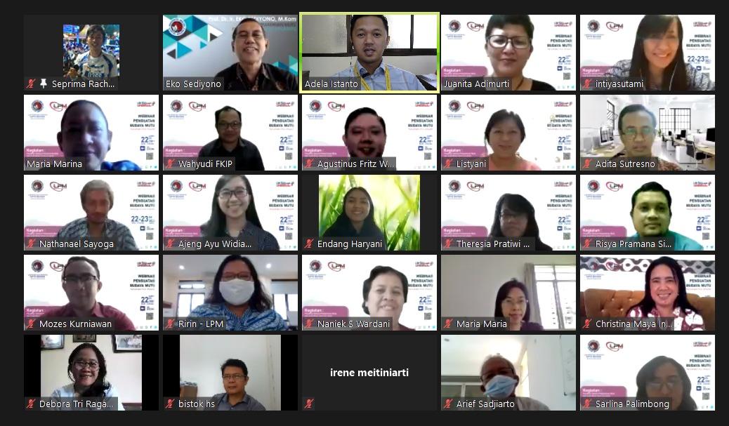 Penguatan Budaya Mutu Webinar pelatihan SPMI dan AMI - Pengenalan SPMI dan AMI berbasis Risiko