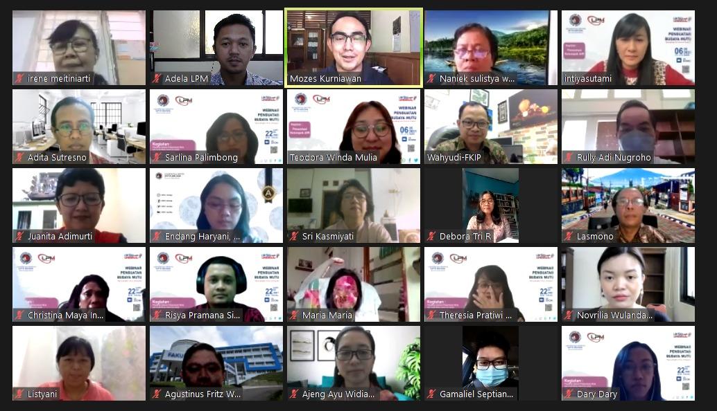 Penguatan Budaya Mutu Webinar pelatihan SPMI dan AMI - Presentasi Kelompok